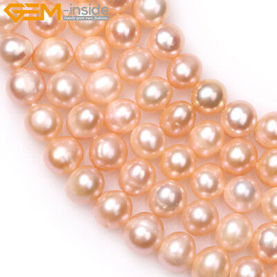 """Round 7-8mm Freshwater Pearl Beads Jewelry Making Gemstone Strand 15"""" Color Pick"""