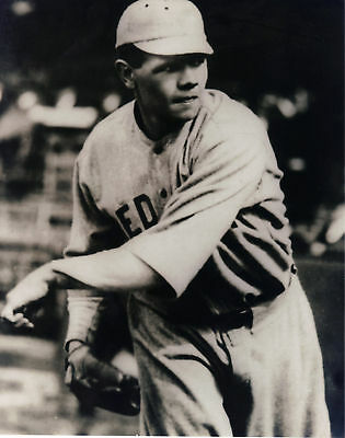 BABE RUTH  BOSTON RED SOX   VINTAGE ACTION 8x10