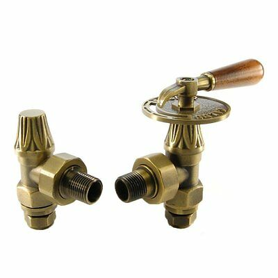 Abbey Traditional Manual Throttle Lever Valve Set/Pair For Cast Iron Radiators