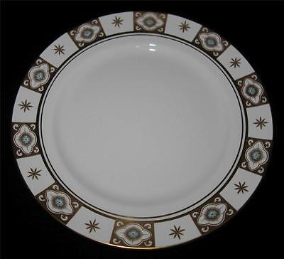"""Aynsley BELMONT 129, Blue Flowers, Gold Sections, Dinner Plate, 10 3/8"""""""