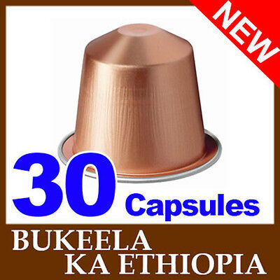 30 Nespresso BUKEELA KA ETHIOPIA Coffee Capsules *NEW SEALED FRESH*
