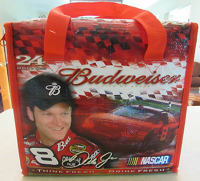 Nascar - Dale Earnhardt Jr #8 Budweiser Vinyl 24-Pack Insulated Tailgate Cooler