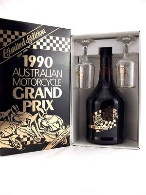 1990 AUSTRALIAN MOTORCYCLE GP PORT Ltd Edition w Glasses Isle of Wine