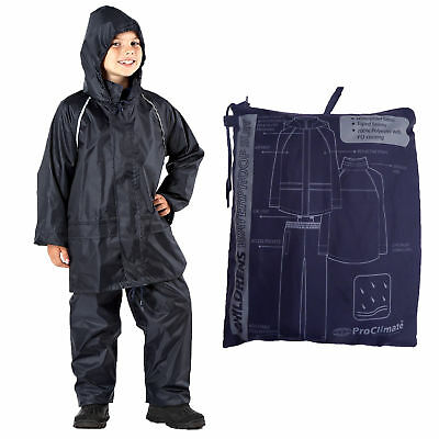 ProClimate 2011 Childrens Kids Boys Girls Waterproof Jacket & Trousers In A Bag