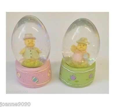 Gisela Graham Mini Glitter Baby Chick Snow Globe Egg Dome Easter Ornament Gift