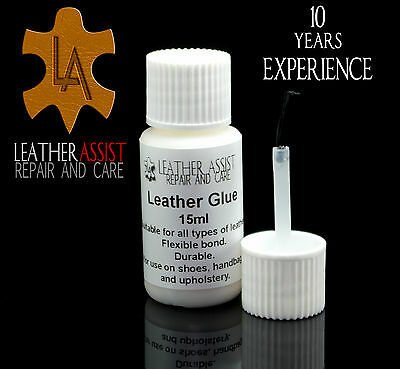 Professional Strong LEATHER VINYL GLUE REPAIR FIX For Rips and Tears CRAFTS