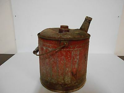Antique Vintage Red Gas Can