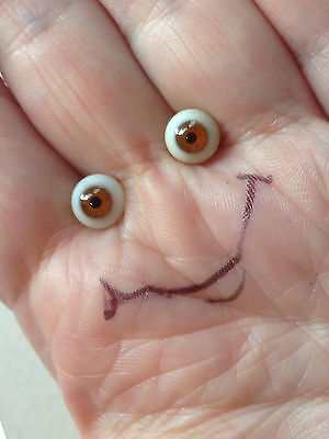 M00647 MOREZMORE Glass Eyes 4 mm BROWN Small Miniature OOAK Doll Baby Figure