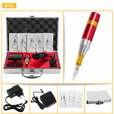 Classic Tattoo Complete Set Kit Permanent Makeup Rotary Machine with Box