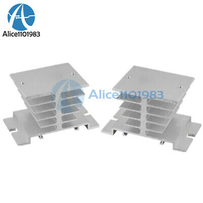 2PCS Aluminum Heat Sink for Solid State Relay SSR Small Type Heat 10A-40A