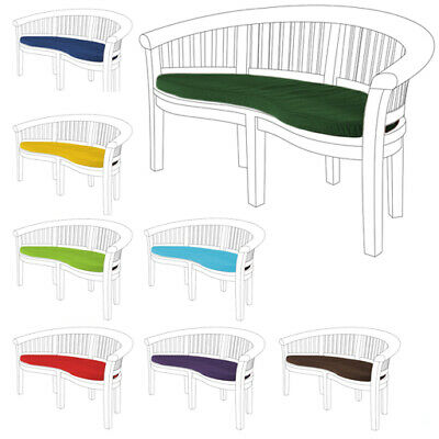 Banana Peanut Bench Waterproof Garden Cushion Pads Moon Chair Furniture 2 Seater