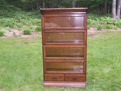 Antique Hale Mission Oak Barrister Bookcase w Drawers like Globe China Cabinet