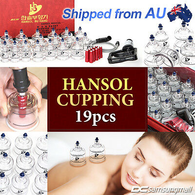 Hansol cupping set 19 cups for slimming, vacuum massage and Acupuncture