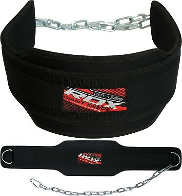 RDX Pro Dipping Belt Body Building Weight Dip Lifting Chain Gym Plate Training P