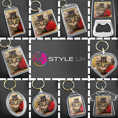 Blank Clear Acrylic Keyrings - Make Your Own Photo Keyrings - Insert Any Photo