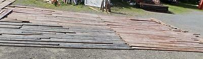 "Genuine Antique Pine Flooring 400 Sq Ft Lot 4"" Wide Tongue & Grove Old 3359-14"