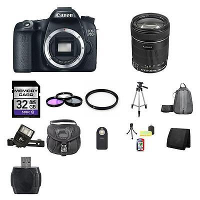 Canon EOS 70D SLR Camera w/18-135mm Lens 32GB Full Kit