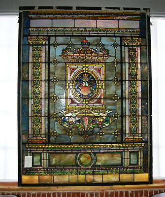 Stained Glass by Tiffany Studios, 8'H. Grand Scale #7713 • CAD $316,212.33