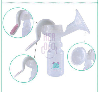 Manual One Hand type Breast Pump Free size silicone Vacuum Cup Breast-feeding