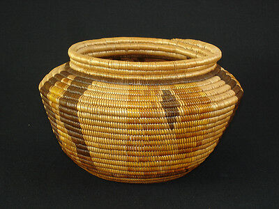 A California polychrome Chemehuevi basket, Native American Indian, circa: 1910