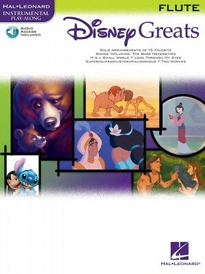 Musical Instruments & Gear Instruction Books, Cds & Video Disney Movie Hits Flute Instrumental Folio Book And Audio New 000841420