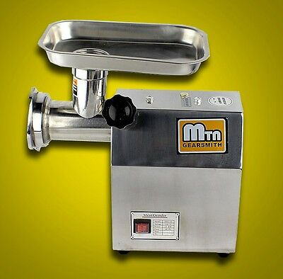 New MTN Gearsmith Commercial Electric Meat Grinder Mincer Sausage Stuffer #12
