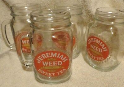 Jeremiah Weed Sweet Tea Vodka...Pint Canning Jar with handle on the side...NEW