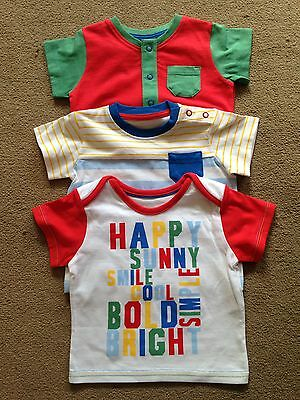 BNWT NEXT 3 Pack Multi Coloured T-Shirts Short Sleeved Tops 3-6 Months