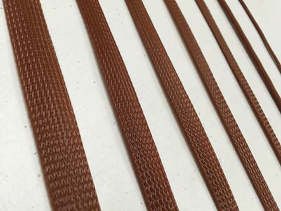 Brown Braided Sleeving Cable Harness Sheathing Expanding Sleeve in Many sizes!