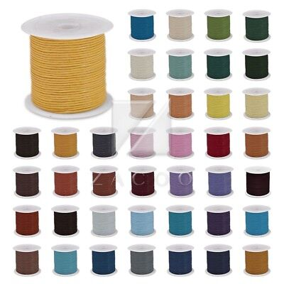 10m/Roll Real Round Leather Cord Thong DIY Jewelry Bracelet Making 1/1.5/2/3mm