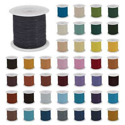 1 Roll 10M Faux Leather Cord Thong Wire String Thread Rope Finding 1/1.5/2/3mm