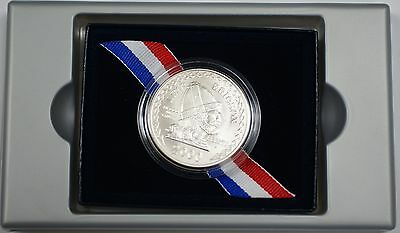 2000 Leif Ericson Silver Commem Uncirculated $1 Coin in Box United States Mint