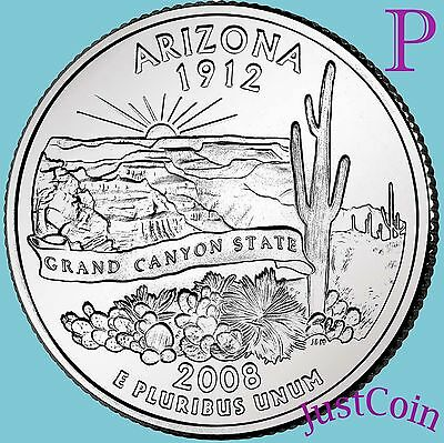 2008-P Arizona State (Az) Quarter Uncirculated From U.s. Mint * State Quarters