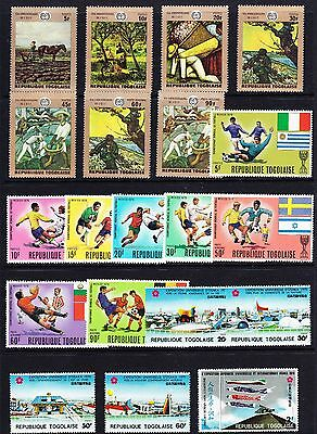 Togo #717//740 Mint Never Hinged 20 Different Cv$20.55 Fx70