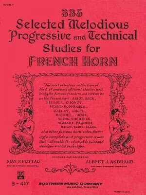 335 Selected Melodious Progressive & Technical Studies for Horn Book 2 003770622
