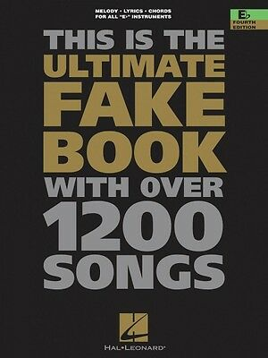 The Ultimate Fake Book 4th Edition E-flat Edition Real Book Fake Book  000240025