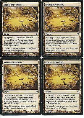 mtg Magic 4x Quicksand (Arenas movedizas) Spanish  Excellent Worldwake