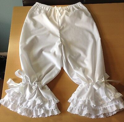 Ladies white cotton bloomers