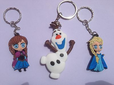 Disney Frozen Elsa Anna Olaf Rubber KeyChain Key Chains- You Choose-HTF Sold Out