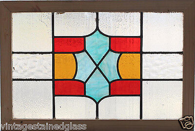 Antique Stained Glass Window Three Colors of glass  *Slag Blue*           (2674)