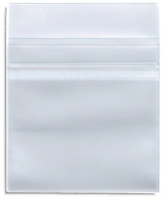 100 Clear Plastic Sleeve CPP with Resealable Flap CD DVD R Disc 100 Microns