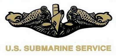 US Navy Submarine Service Gold Decal