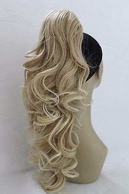 New Long Synthetic Curly Claw Clip-in Ponytail Hair Piece Extension Bun updo