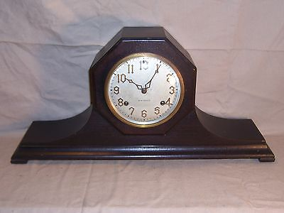 Antique New Haven Octagon Top 8 Day Chiming Mantle Clock