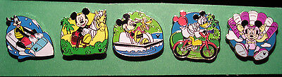 WDW Cast Lanyard Complete Set of  Recreation  Series 4 Pin Pins
