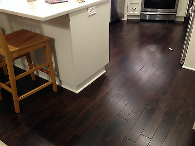 "3/4"" x 3-5/8"" Solid Acacia Asian Walnut  Mocha Hardwood  Flooring Floor Sample"