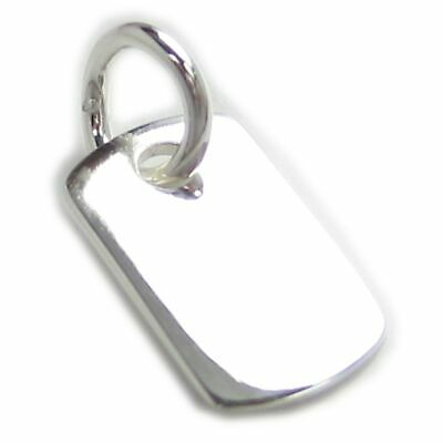 Engravable tag small sterling silver charm .925 x 1 Engraveable charms WSSP10529