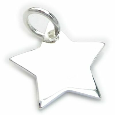 Star sterling silver charm .925 x 1 Stars charms WSSP3505