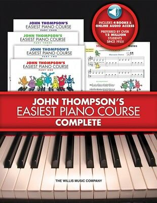 John Thompson's Easiest Piano Course Complete 4-Book 4-CD Boxed Set Bo 000416812