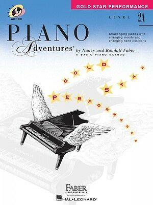 Level 2A Gold Star Performance with CD Piano Adventures Faber Piano Ad 000420257